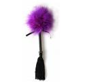 Plumero marabú lila flecos