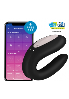 Satisfyer Double Joy Connect negro