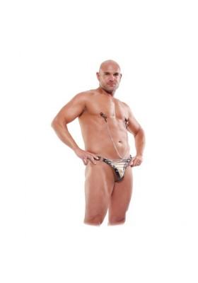 Tanga cadenas con nipples pezones