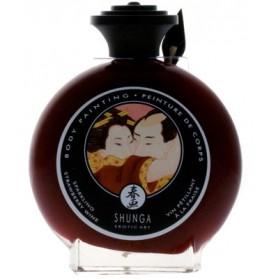 Shunga fresa cava corporal comestible